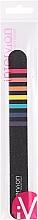 Kup Pilnik do paznokci, czarny w kolorowe paski - Inter-Vion
