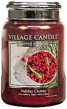 Kup Świeca zapachowa w słoiku - Village Candle Holiday Chutney Glass Jar