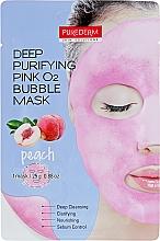 Kup Oczyszczająca maseczka bąbelkowa do twarzy z brzoskwinią - Purederm Deep Purifying Green O2 Bubble Mask Peach