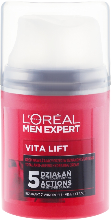 Nawilżający krem przeciwstarzeniowy dla mężczyzn - L'Oreal Paris Men Expert Vita Lift 5 — фото N2