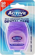Kup Miętowa szeroka taśma dentystyczna z fluorem, 50 m - Beauty Formulas Active Oral Care Mint Waxed Fluoride Dental Tape