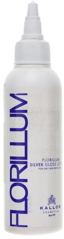 Srebrny płyn kondycjonujący do włosów siwych, białych i mocno rozjaśnianych - Kallos Cosmetics Florillum Silver Gloss Lotion