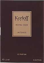 Kup Korloff Paris Royal Oud Intense - Perfumy (próbka)