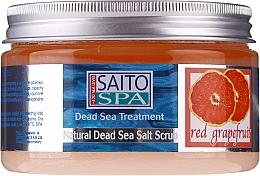 Kup Solny peeling do ciała Czerwony grejpfrut - Saito Spa Salt Body Scrub Red Grapefruit