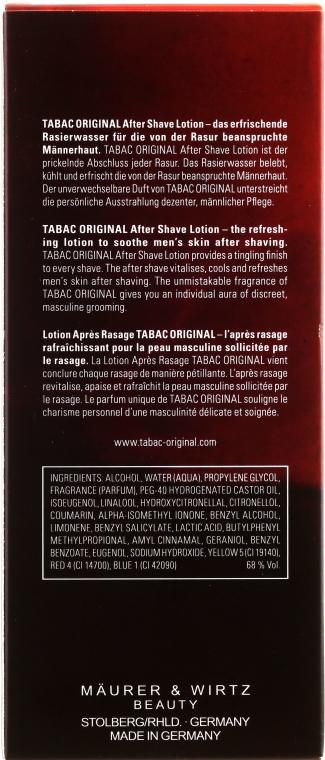 Maurer & Wirtz Tabac Original - Lotion po goleniu — фото N4