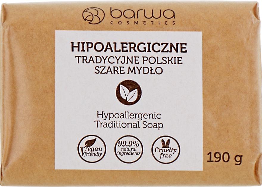 Hipoalergiczne tradycyjne polskie szare mydło - Barwa Soap
