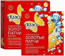 Kup Hydrożelowe złote płatki pod oczy z kwasem hialuronowym - Dizao