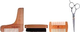 Kup Zestaw - Yoshimoto Gentleman's Code ST054 (beard brush + scissors + comb + crest)