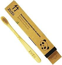Kup Bambusowa szczoteczka do zębów dla dzieci z miękkim włosiem, beżowa - Zuzii Kids Soft Toothbrush