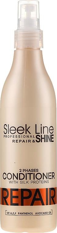 Dwufazowa odżywka regenerująca do włosów bez spłukiwania - Stapiz Sleek Line Repair