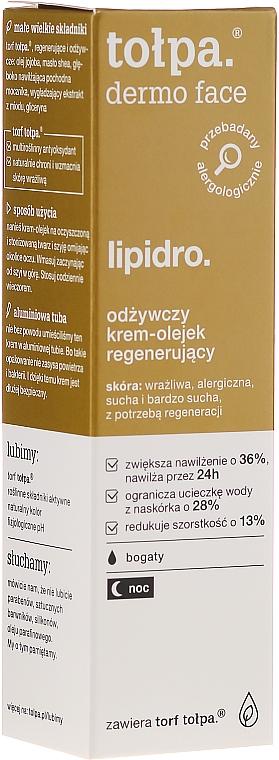 Odżywczy krem-olejek regenerujący do twarzy - Tołpa Dermo Face Lipidro