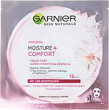 Kup Nawilżająca maska kojąca na tkaninie do twarzy - Garnier Skin Naturals Moisture + Comfort