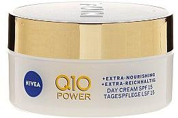Krem przeciwzmarszczkowy na dzień do cery dojrzałej i wymagającej Ekstraodżywienie SPF 15 - Nivea Visage Q10 Power Extra Day Cream — фото N2