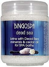 Kup Solanka z minerałami z Morza Martwego - BingoSpa Brine With Dead Sea Minerals For SPA Baths With Cedar And Baobab Seed Oil