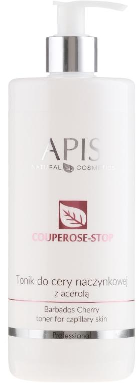 Tonik do cery naczynkowej z acerolą - Apis Professional Couperose-Stop Barbados Cherry Tonner