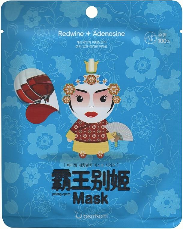 Nawilżająca maska do twarzy w płachcie - Berrisom Peking Opera Mask Series Queen — фото N1