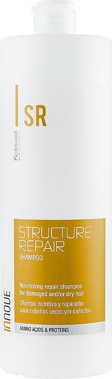 Odżywczy szampon regenerujący do włosów suchych i zniszczonych - Kosswell Professional Innove Structure Repair Shampoo — фото N3
