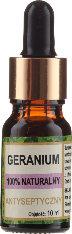Naturalny olejek geraniowy - Biomika Geranium Essential Oil