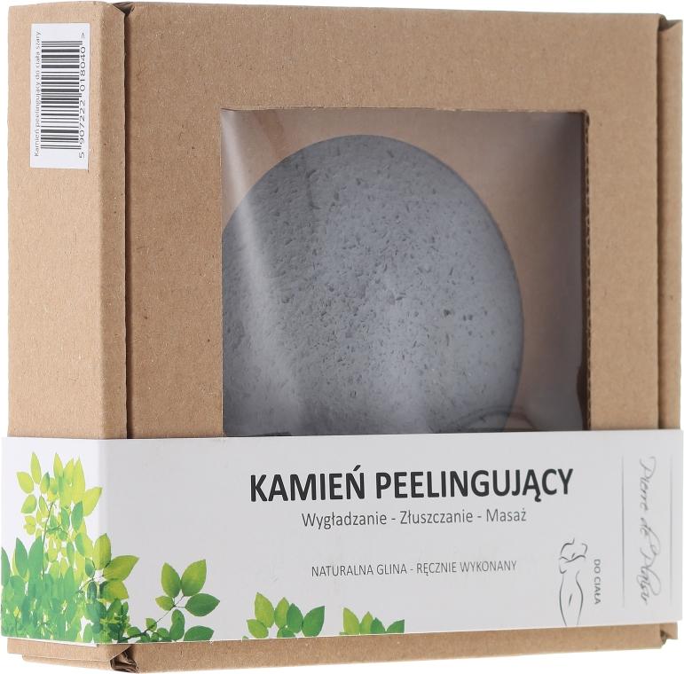 100% naturalny ręcznie wykonany kamień peelingujący do ciała, szary - Pierre de Plaisir Natural Scrubbing Stone Body — фото N1