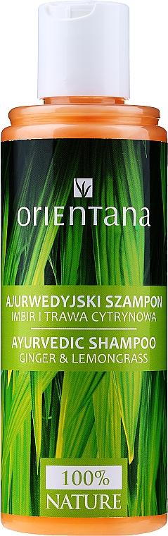 Ajurwedyjski szampon do włosów Imbir i trawa cytrynowa - Orientana