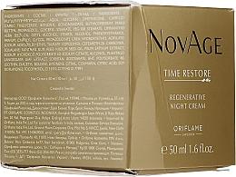 PRZECENA! Odmładzający krem do twarzy na noc - Oriflame NovAge Time Restore Regenerative Night Cream* — фото N3