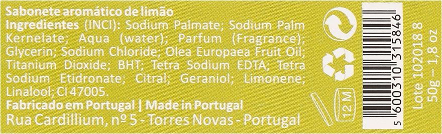 Naturalne mydło w kostce - Essencias De Portugal Living Portugal Guimaraes Lemon — фото N3