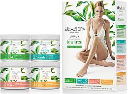 Kup Zestaw z ekstraktem z drzewa herbacianego - IBD Spa Pro Pedi Tea Tree Purify Spa Intro Kit (soak/180g + scr/180g + mask/120ml + lot/124ml)