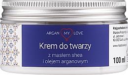 Kup Krem do twarzy z masłem shea i olejem arganowym - Argan My Love Shea Butter & Argan Oil Face Cream