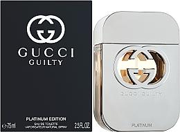 Gucci Guilty Platinum Edition - Woda toaletowa — фото N2