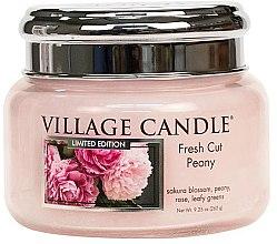 Kup Świeca zapachowa w słoiku - Village Candle Fresh Cut Peony Glass Jar