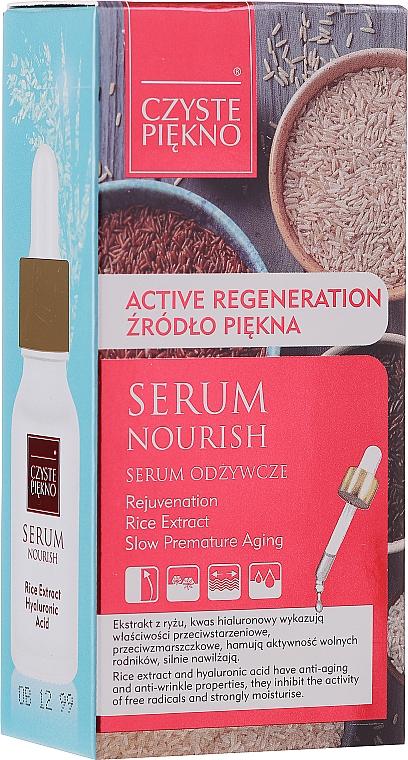 Odżywcze serum do twarzy z ekstraktem z ryżu i kwasem hialuronowym Źródło młodości - Czyste Piekno — фото N1
