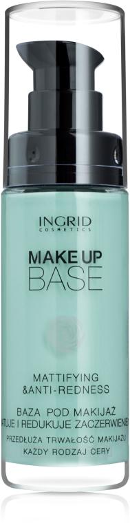 Matująca baza pod makijaż redukująca zaczerwienienia - Ingrid Cosmetics Make Up Base Mattifying & Anti-Redness