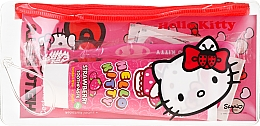 Kup Podróżny zestaw dla dzieci - VitalCare Hello Kitty Dental Travel Kit (t/brush + t/paste 75 ml + 10 x plasters)