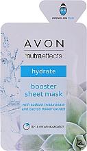 Kup Nawilżająca maska w płachcie do twarzy z kwasem hialuronowym - Avon Nutraeffects Booster Sheet Mask