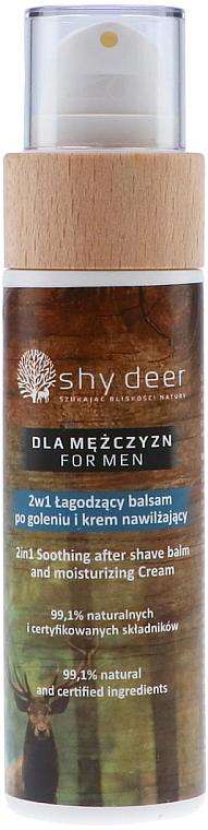 Łagodzący balsam po goleniu i krem nawilżający dla mężczyzn 2w1 - Shy Deer For Men 2in1 Sothing After Shave Balm And Moisturizing Cream — фото N1