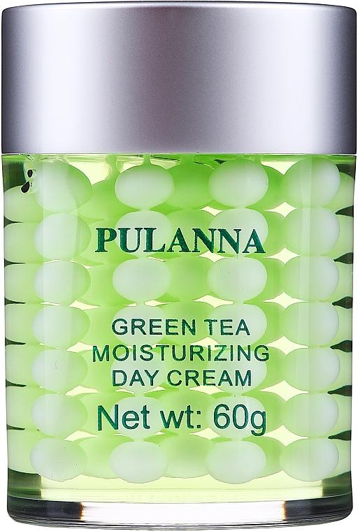Nawilżający krem ochronny do twarzy na dzień - Pulanna Green Tea Moisturizing Day Cream  — фото N1