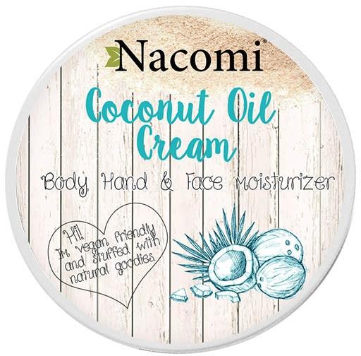Naturalny krem kokosowy do twarzy, ciała i dłoni - Nacomi Coconut Oil Cream