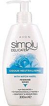 Żel do higieny intymnej z oczarem neutralizujący nieprzyjemne zapachy - Avon Simply Delicate — фото N1