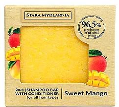 Kup Twardy szampon i odżywka do włosów 2 w 1, mango - Stara Mydlarnia Sweet Mango 2in1 Shampoo Bar