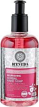 Kup Odżywcze mydło ziołowe do rąk w płynie Arktyczna róża i lotos - Iceveda