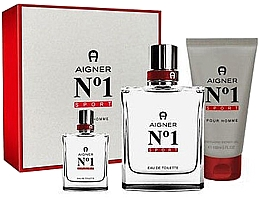 Kup Aigner No 1 Sport - Zestaw (edt 100 ml + edt 8 ml + sh/gel 150 ml)