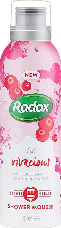 Mus do mycia ciała i golenia - Radox Feel Vivacious Apple Blossom & Cranberry Shower Mousse — фото N1
