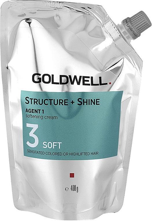 Zmiękczająco-nabłyszczający krem do włosów - Goldwell Structure + Shine Agent 1 Soft 3 — фото N1