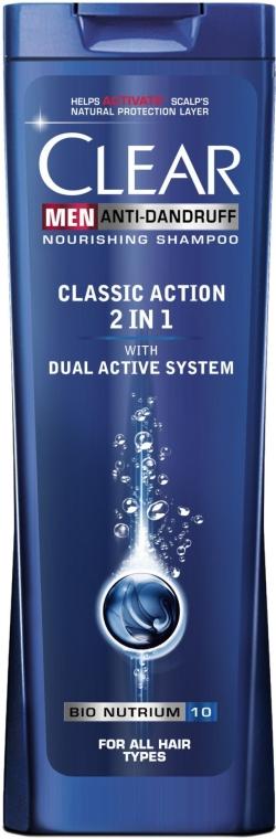 Przeciwłupieżowy szampon do włosów 2 w 1 dla mężczyzn - Clear Vita Abe Men Anti-Dandruff Classic Action 2in1 Nourishing Shampoo
