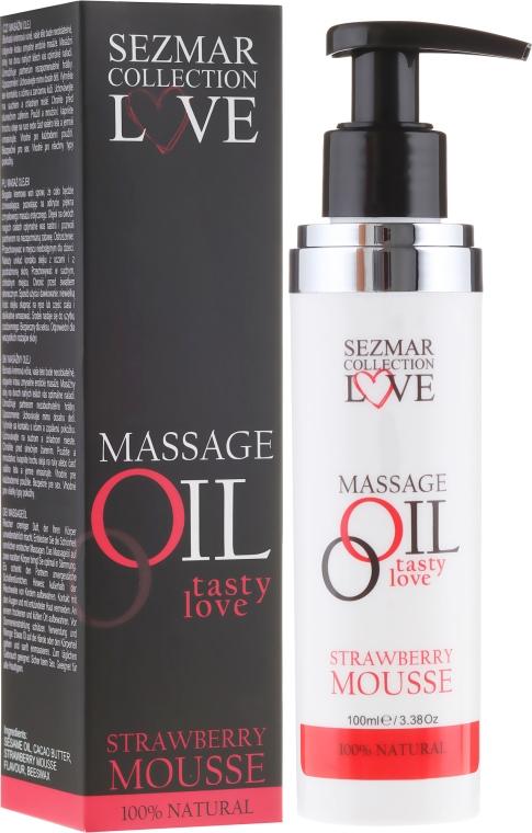 Olejek do masażu Mus truskawkowy - Sezmar Collection Love Massage Oil Strawberry Mousse — фото N3