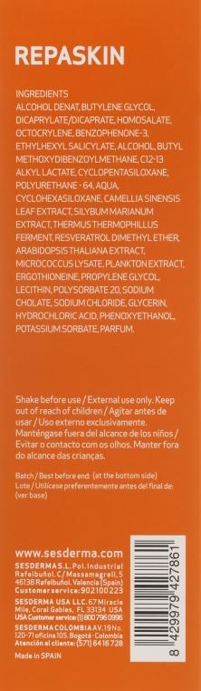 Transparentny spray przeciwsłoneczny do ciała SPF 30 - SesDerma Laboratories Repaskin — фото N3