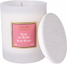 Kup Świeca zapachowa drzewo różane - Collines De Provence Rose Wood Scented Candle