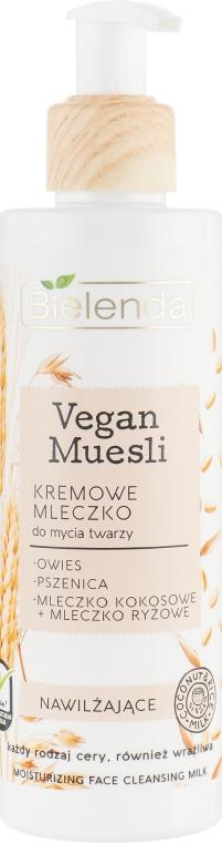 Kremowe mleczko nawilżające do mycia twarzy - Bielenda Vegan Muesli