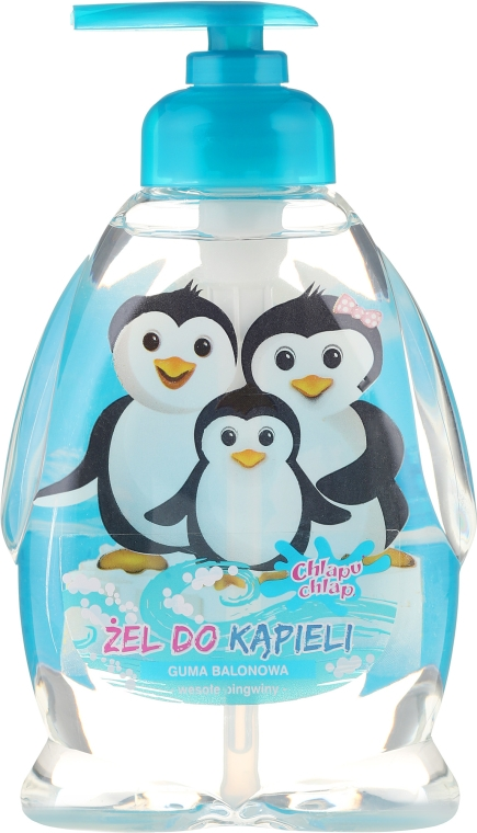 Żel pod prysznic i do kąpieli dla dzieci Guma balonowa Wesołe pingwiny - Chlapu Chlap — фото N1
