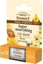 Kup Intensywnie odżywczy balsam do ust Miód i wanilia - Green Pharmacy Honey And Vanilla Super Nourishing Lip Balm